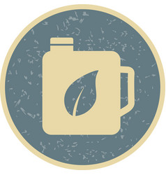 eco oil icon vector image