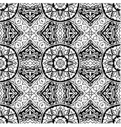 ethnic tile pattern from ornamental elements vector image