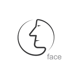Facial profile vector