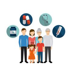 family health care design vector image