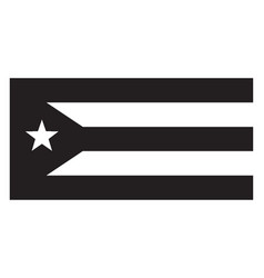 Flag of puerto rico 2009 vintage vector