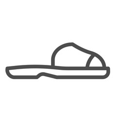 flip flops line icon summer shoes vector image