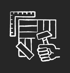 Flooring chalk white icon on black background vector