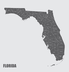 Florida and its counties vector