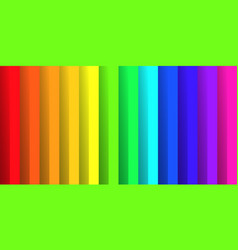 folded paper in colors of rainbow spectrum with vector image