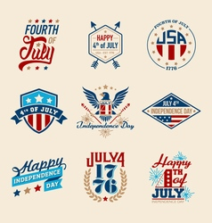 Fourth july badges vector