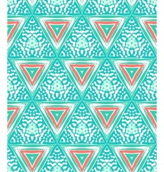 Geometric pattern with triangles and random dots vector image