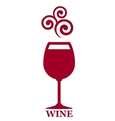 Goblet of red wine vector