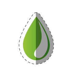 Green water drop environment design vector