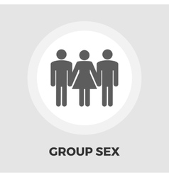 Group sex flat icon vector image vector image