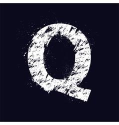 Grunge letter Q vector