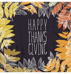 Happy thanksgiving card design paper cut letters vector