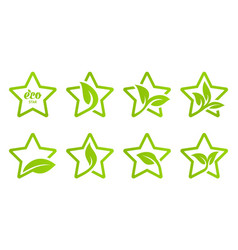 icon set eco star vector image