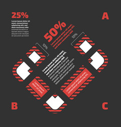 Infographic with floor plan vector