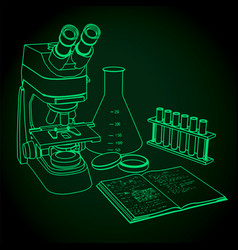 Microscope and laboratory vector