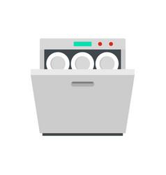 Modern dishwasher icon flat style vector