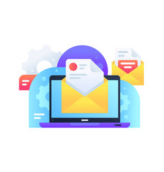 modern email marketing delivery ad for spread vector image