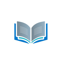 open book knowledge read logo vector image