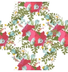 pattern of tropical hibiscus flowers bunch vector image