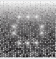 pentagon silver halftone dot abstract background vector image