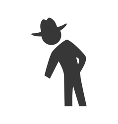 Pictogram and hat icon Person design vector image