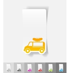 realistic design element snack on wheels vector image