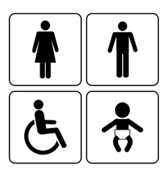 restroom icons vector image
