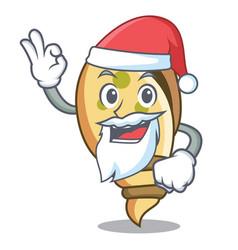 Santa sea shell mascot cartoon vector
