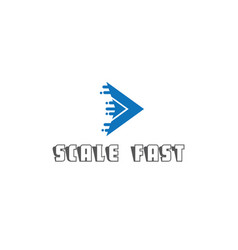 scale fast modern logo design vector image