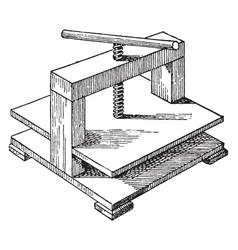 screw press vintage vector image