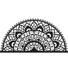 Semi-ircular ornament in ethnic style vector