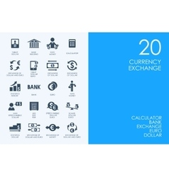 Set of BLUE HAMSTER Library currency exchange vector image
