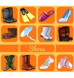 Set of shoes for all seasons and occasions vector