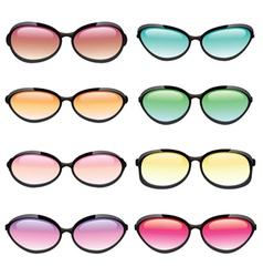 Set of Sunglasses vector
