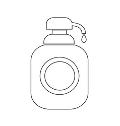 shower gel liquid soap dispenser icon vector image