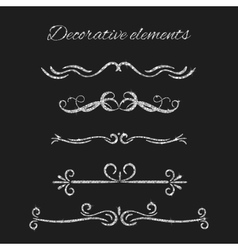 Silver text dividers set Ornamental decorative vector
