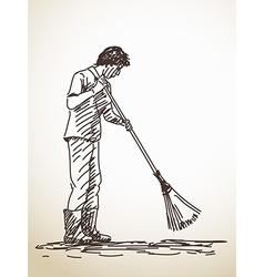 Sketch janitor vector