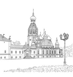 sketch of the resurrection cathedral vector image