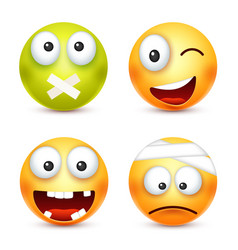 Smileysmiling angrysadhappy emoticon yellow vector