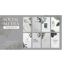 Social media banner minimalist design template vector