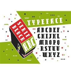 Stock set of serif font vector
