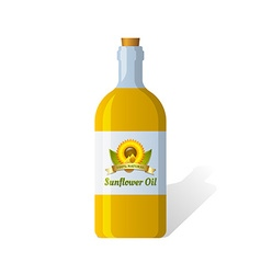 Sunflower oil vector image