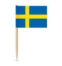 sweden flag swedish flag toothpick 10eps vector image