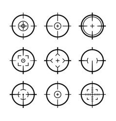 Target aim icons military set crosshair target vector