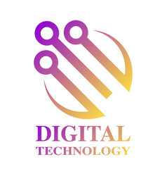 technology biotechnology hi tech icon and symbol vector image