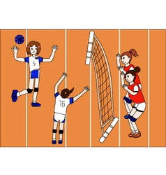 The of Volleyball Team vector