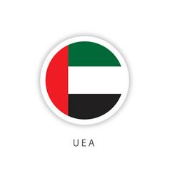 Uae circle flag template design vector