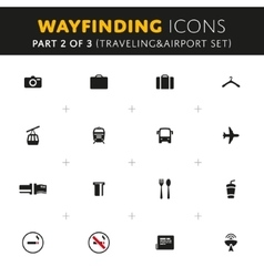 Wayfinding Icons Set vector