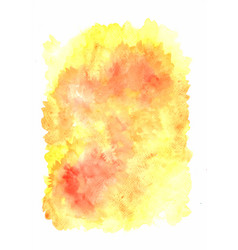 Yellow and orange color watercolor background vector