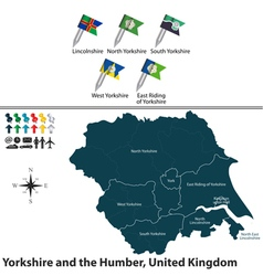Yorkshire and the Humber vector